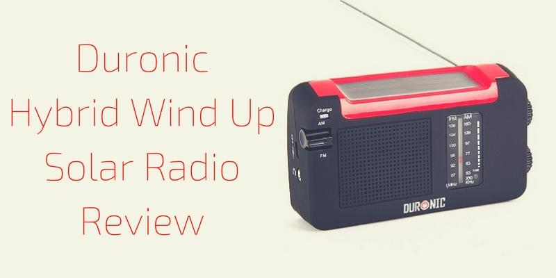 Duronic Hybrid Wind Up Solar Radio