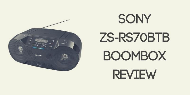 Sony ZS-RS70BTB Boombox Review