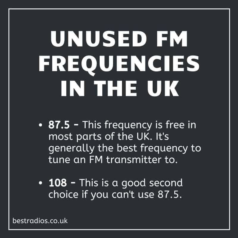 Unused FM Frequencies in the UK