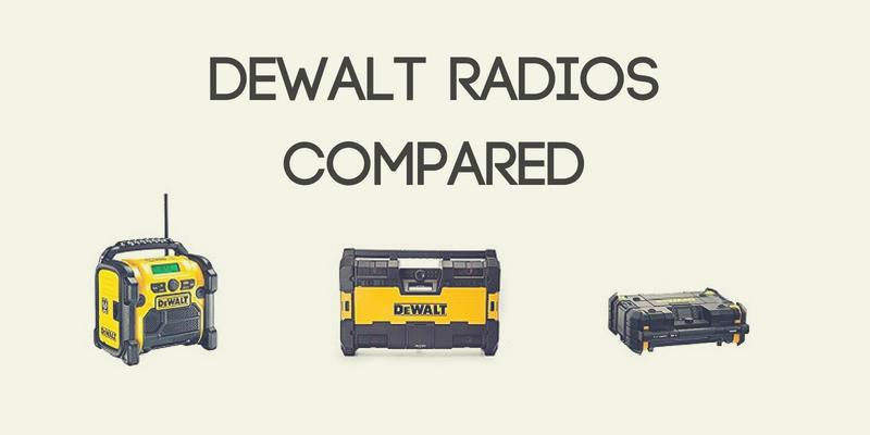 DeWalt Radios Compared